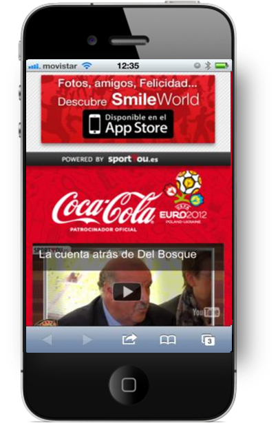 Coke Spain Screenshot