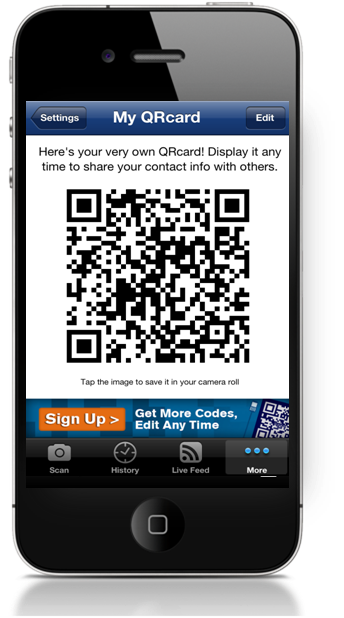 ScanLife 4.2 QRcard