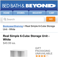 Bed Bath & Beyond screenshot