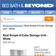 Bed Bath & Beyond screenshot