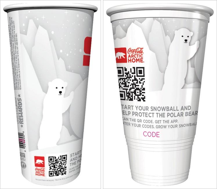 Coca Cola campaign cups
