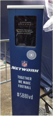 Super Bowl Blvd Kiosk