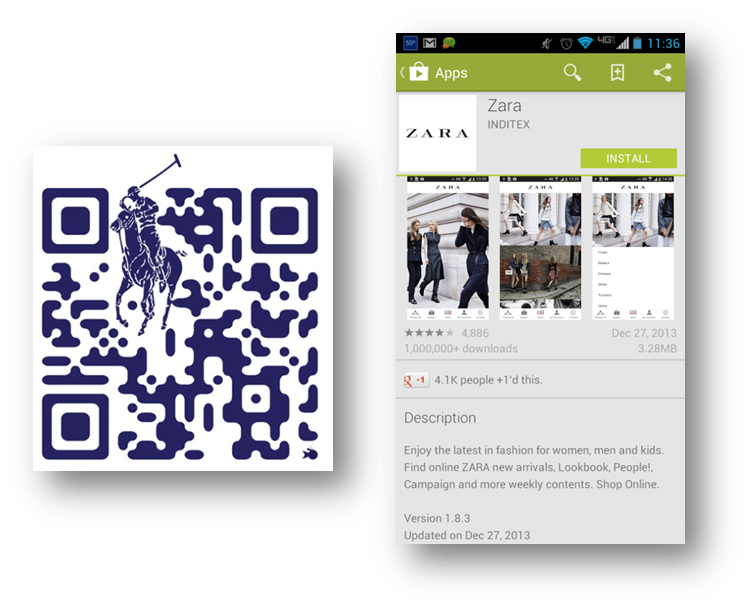 Ralph Lauren and Zara Mobile Marketing