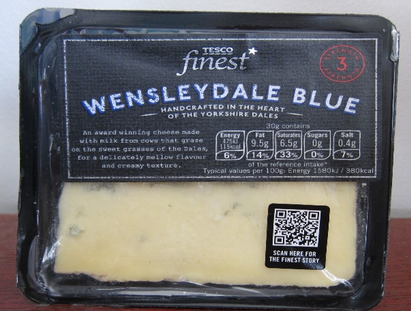 Tesco Cheese QR Code