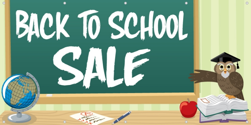 Back-to-School Sale Banner