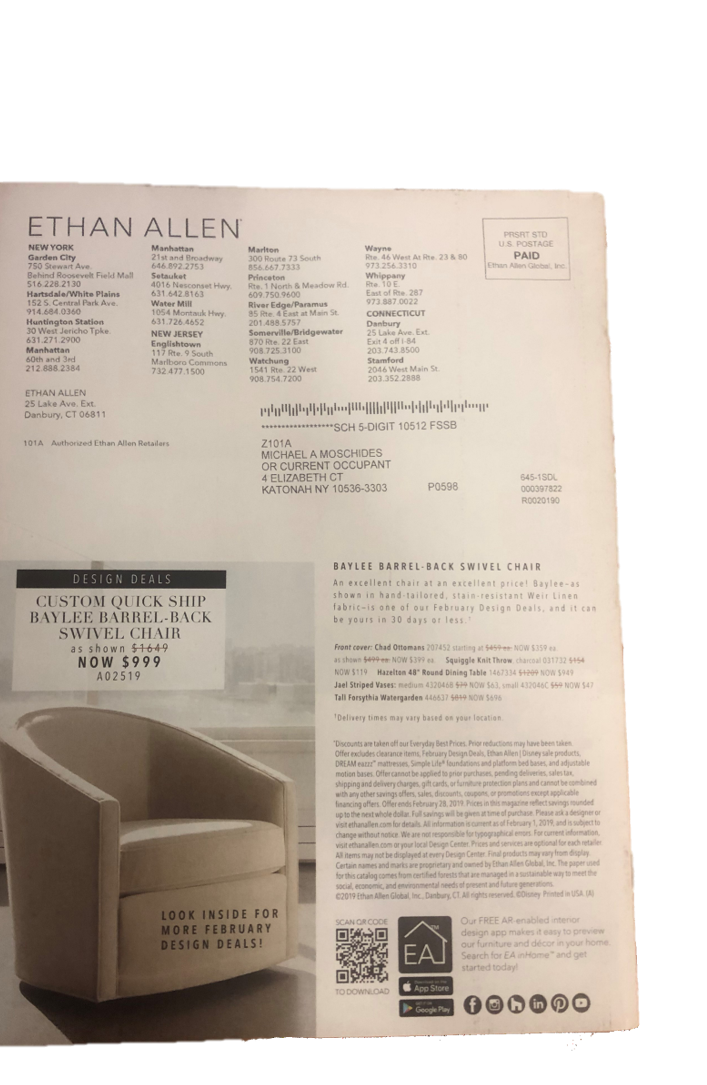 Ethan Allen blog